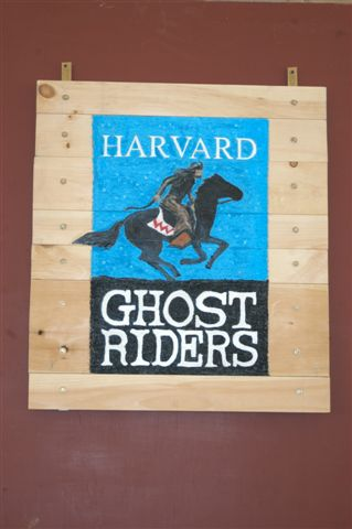 Harvard Ghost Riders sign